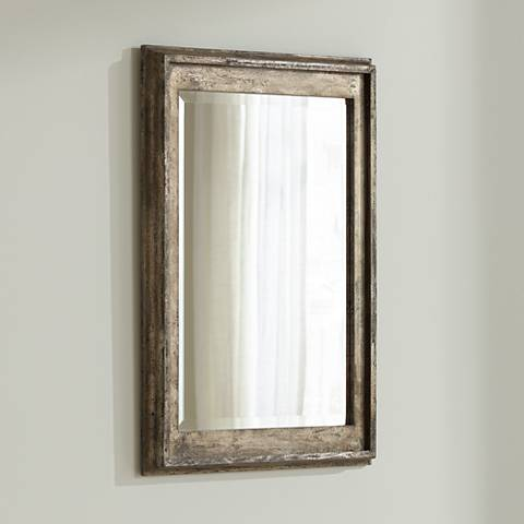 "Uttermost Allegan Silver Leaf 25"" x 36 3/4"" Wall Mirror"