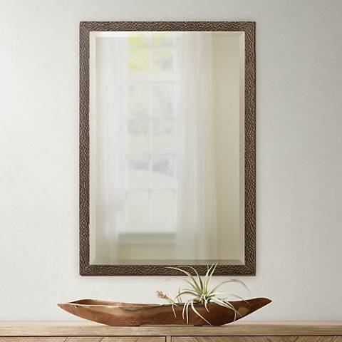 "Uttermost Michaela Oak Veneer 22"" x 32"" Wall Mirror"