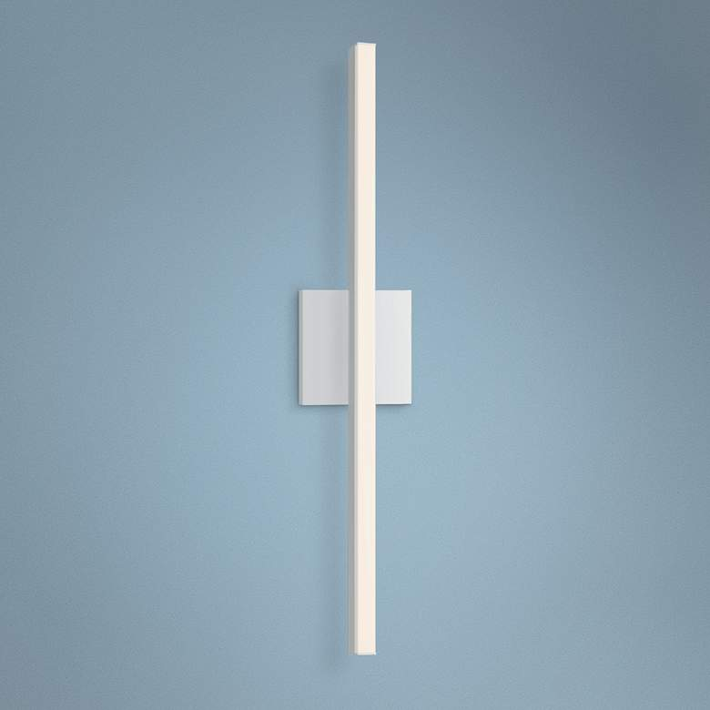 "Sonneman Stix 24 3/4"" High Satin White LED Wall Sconce"