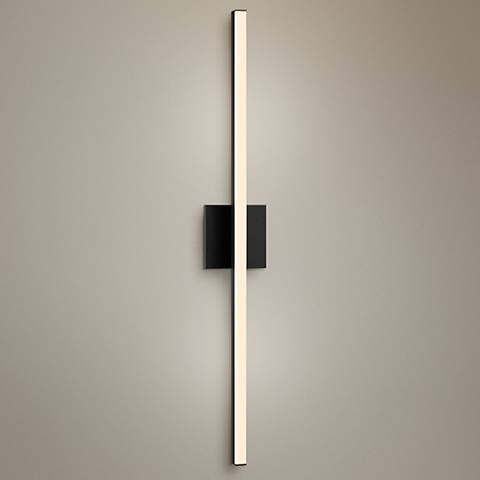 "Sonneman Stix 32 1/4"" High Satin Black LED Wall Sconce"