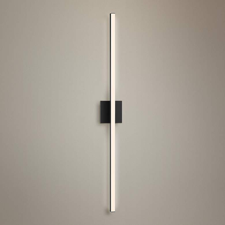 "Sonneman Stix 40"" High Satin Black LED Wall Sconce"