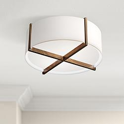 "Cerno Plura 18"" Wide Walnut Ceiling Light"