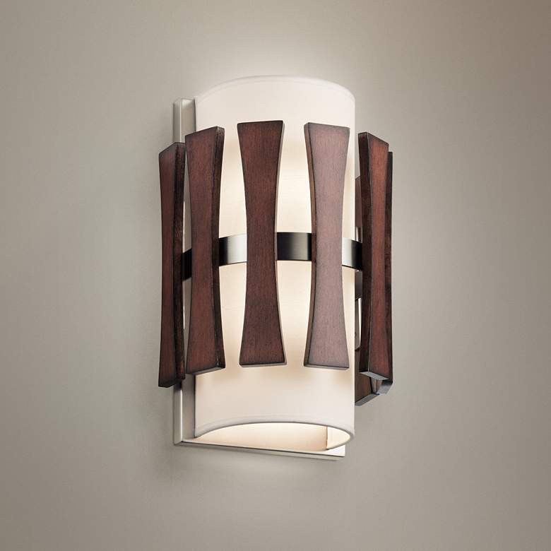 "Kichler Cirus 12"" High Auburn Stained 2-Light Wall Sconce"