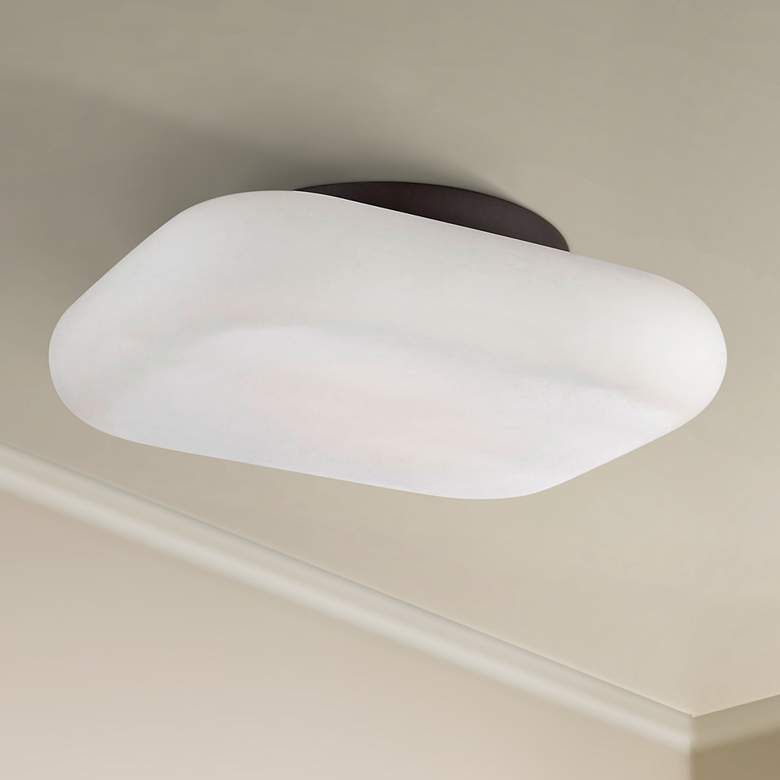 "Eurofase Alma 13"" Wide Bronze 2-Light LED Ceiling"