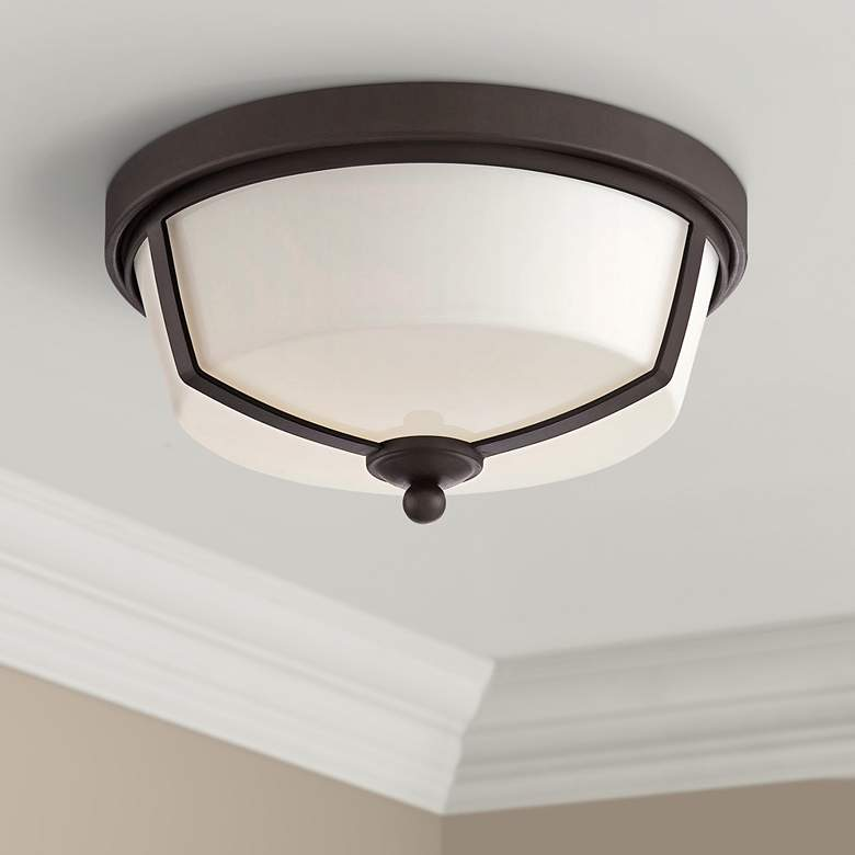 "Eurofase Kate 12"" Wide Bronze 2-Light LED Ceiling"