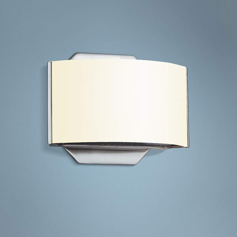 "Eurofase Dakota 4 3/4"" High Satin Nickel LED Wall Sconce"
