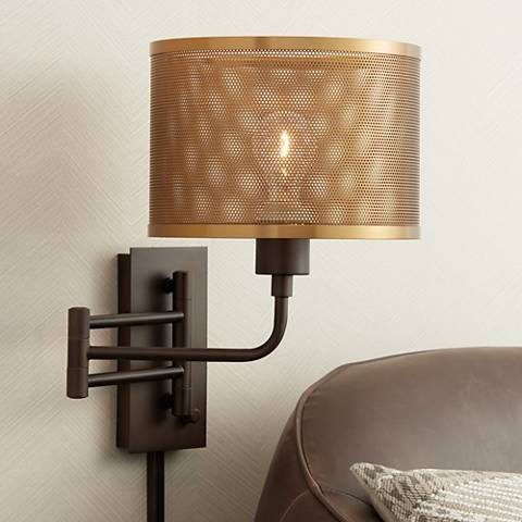 Ashmore Oil-Rubbed Bronze Swing Arm Wall Lamp