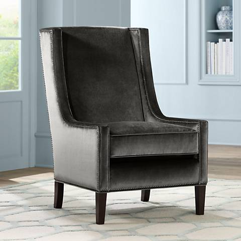 Kobi Mineral Smoke Accent Chair