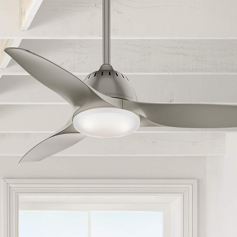 "44"" Casablanca Wisp Painted Pewter LED Ceiling Fan"
