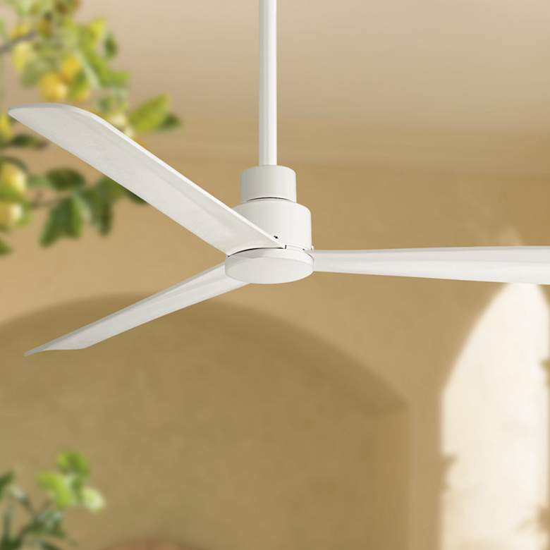 52 Quot Minka Aire Simple White Outdoor Ceiling Fan 9g066