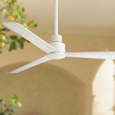 "52"" Minka Aire Simple White Outdoor Ceiling Fan"