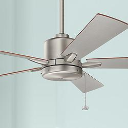 "52"" Bowen Pull Chain Brushed Nickel Ceiling Fan"