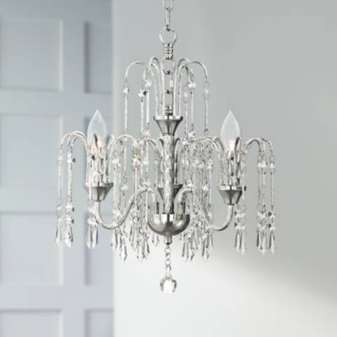 Crystal Rain 15 Quot Wide Chrome 3 Light Chandelier 9g212