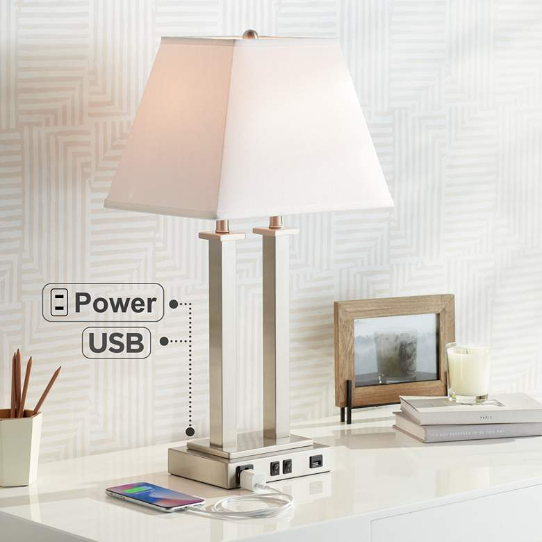 Possini Euro Amity Desk Lamp with USB Port