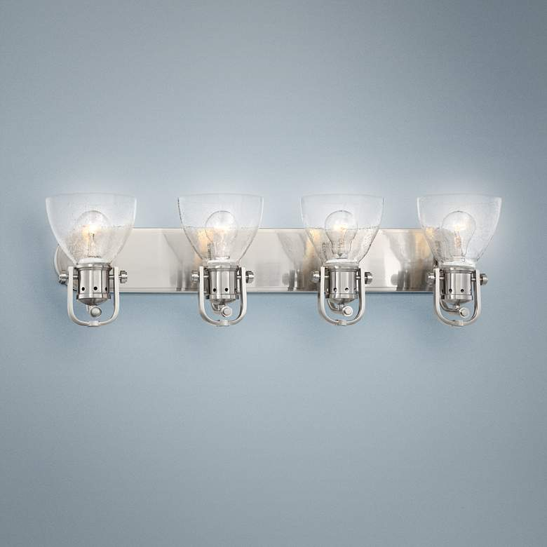 "Bath Art 31 1/2"" Wide Brushed Nickel 4-Light"