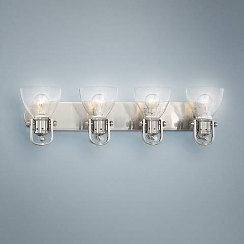 "Bath Art 31 1/2"" Wide Brushed Nickel 4-Light Bath Light"