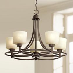 "Whitfield 23"" Wide Oil-Rubbed Bronze 5-Light Chandelier"