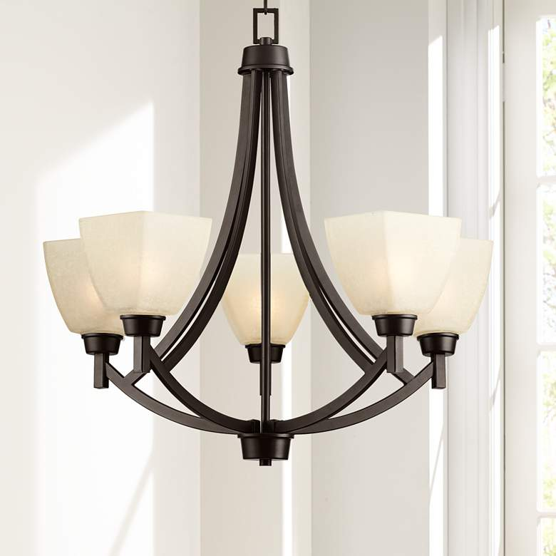 "Coloma 24 1/2""W 5-Light Oil-Rubbed Bronze Chandelier"