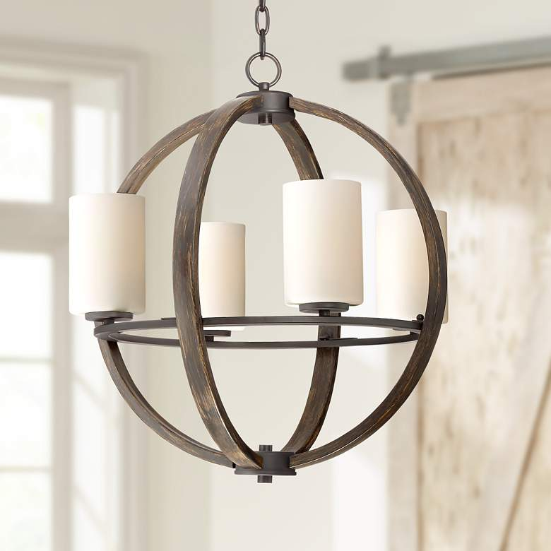 Keefe 22 Wide 4 Light Orb Chandelier By Franklin Iron Works
