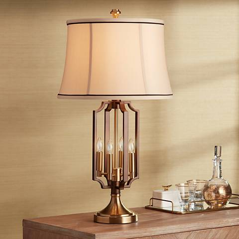 Margo Brass 4-Light Nightlight Table Lamp