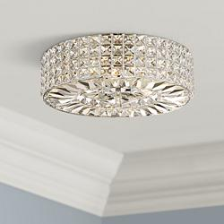 "Possini Euro Avera 15 1/2"" Wide Chrome Crystal Ceiling Light"