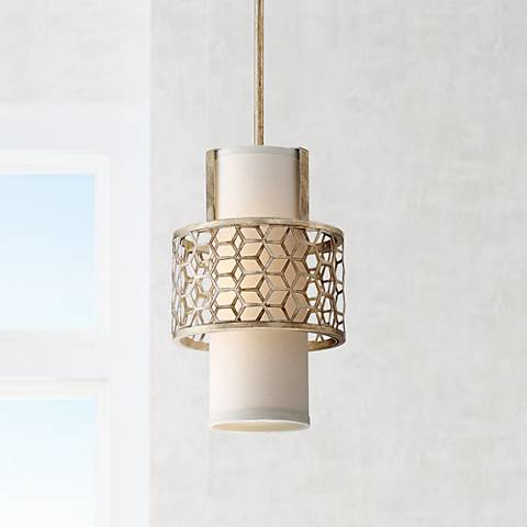 "Century 9"" Wide Antique Gold Mini Pendant - #9H784 