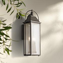 "Kichler Harbor Row 28 3/4"" High Bronze Outdoor Wall Light"
