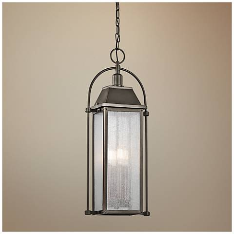 "Kichler Harbor Row 25 3/4""H Bronze Outdoor Hanging Light"