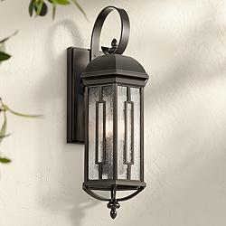 "Kichler Galemore 26 1/2""H Olde Bronze Outdoor Wall Light"