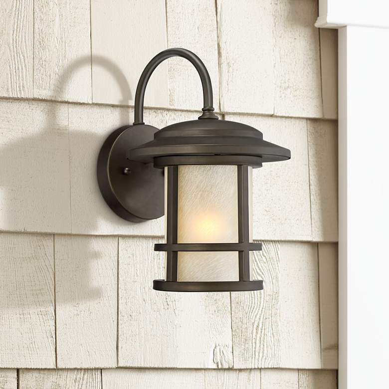 "Cressona 12"" High Oil-Rubbed Bronze Outdoor Wall Light"