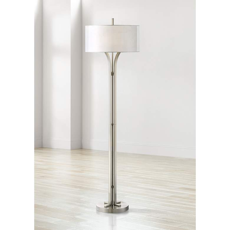 Tristan Brushed Nickel Modern Floor Lamp