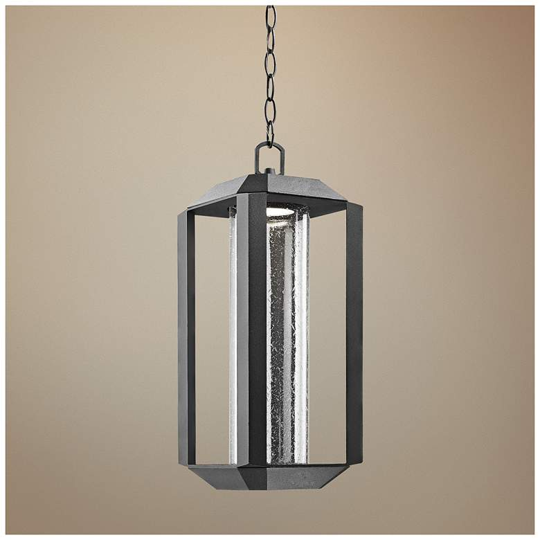 "Artcraft Wexford 18 1/2""H Black LED Outdoor Hanging"