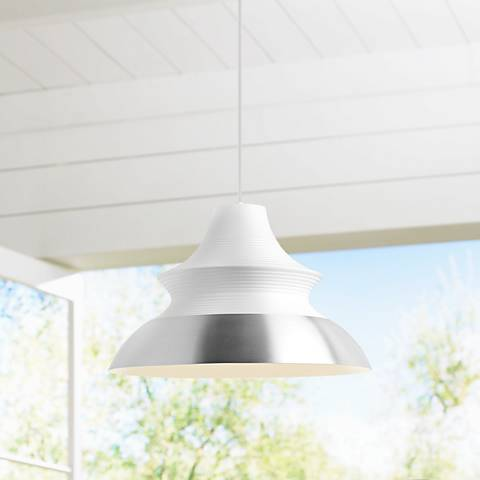 "LBL Togan Grande 20""W White LED Pendant Light"