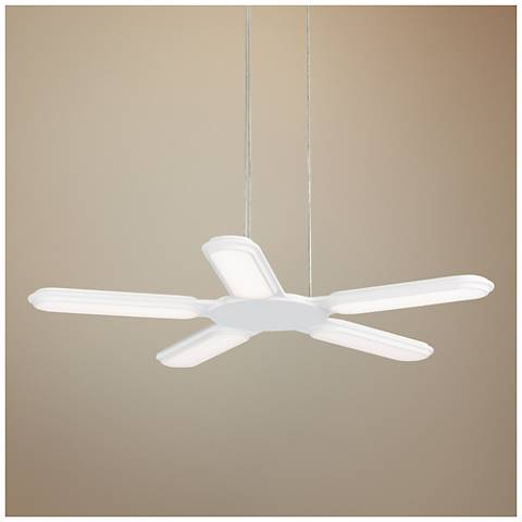 "LBL Torque 27""W White LED Pendant Light"