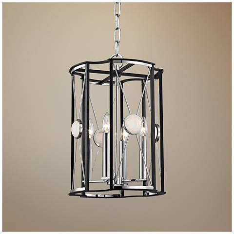 "Cresson 13 1/2"" Wide Polished Nickel Pendant Light"
