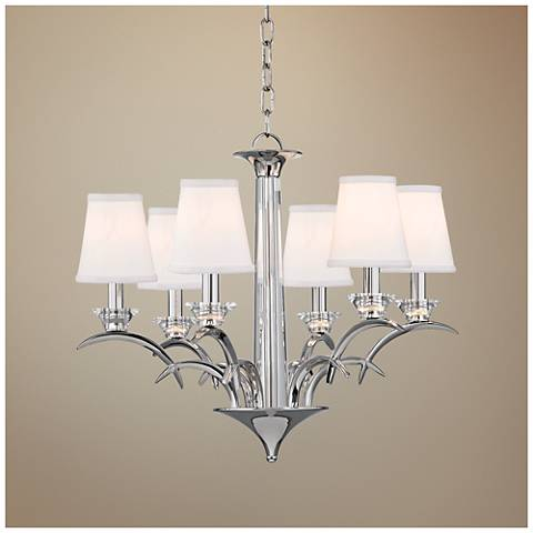 "Hudson Valley Marcellus 25"" Wide Polished Nickel Chandelier"
