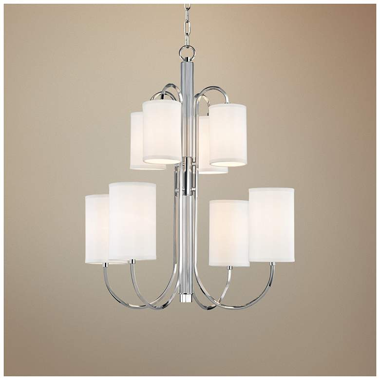 "Hudson Valley Junius 28 1/2"" Wide Nickel Chandelier"
