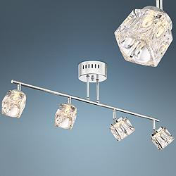 Possini Euro Cube Chrome and Crystal Track Fixture