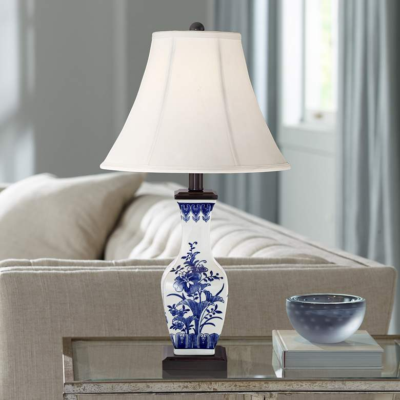 Benoit Blue and White Ceramic Table Lamp