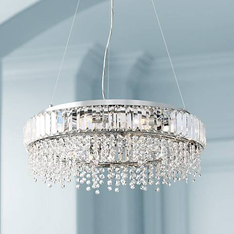 "Possini Euro Circe 21 3/4""W Prismatic Crystal Pendant Light"