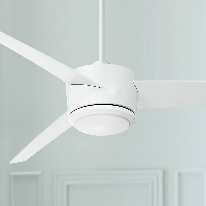 "54"" Epilogue White LED Ceiling Fan"