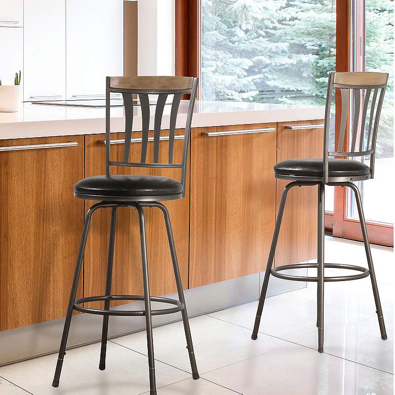 Darlington Brown Swivel Counter Stools Set of 2