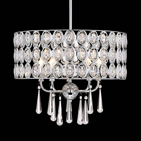 "Possini Euro Almyra 18"" Wide Crystal Pendant Chandelier"