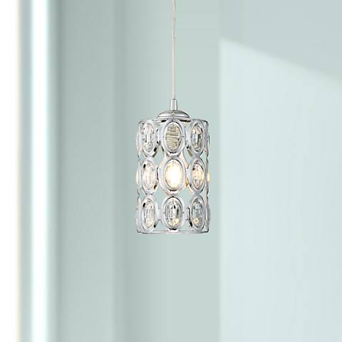 "Possini Euro Almyra 4 1/2""W Crystal Mini Pendant"