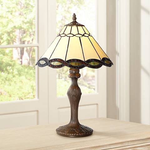 "Robert Louis Tiffany 18 1/2"" High Camile Accent Table Lamp"