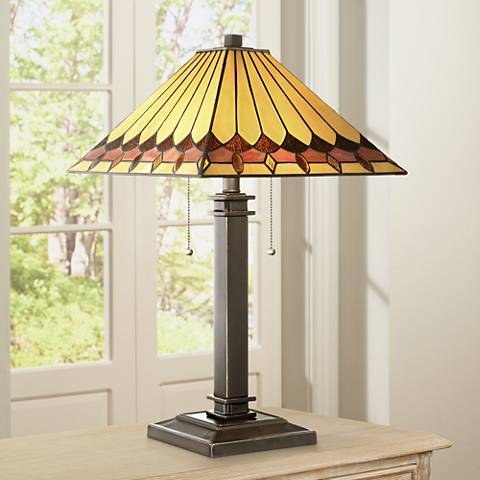 "Robert Louis Tiffany 23"" High Gerard Mission Table Lamp"