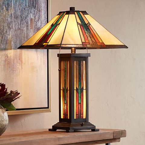 Robert Louis Tiffany Ranier Mission Night Light Table Lamp