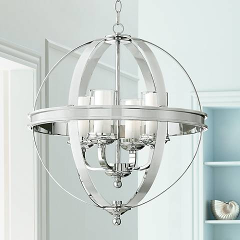 Possini Euro Whencliffe 20 1 2 Quot Wide Chrome Pendant Light