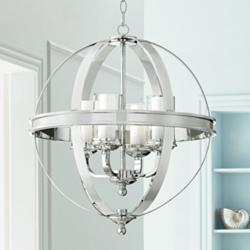 "Possini Euro Whencliffe 20 1/2"" Wide Chrome Pendant Light"