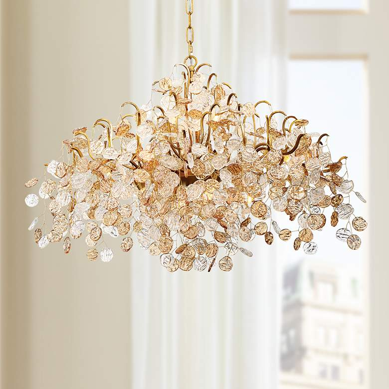 "Eurofase Campobasso 26"" Wide Gold 8-Light Chandelier"